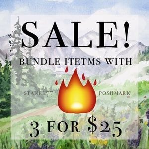 items with 🔥  3 for 25.00.  Just create a bundle